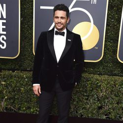 James Franco at the red carpet of the Golden Globes 2018