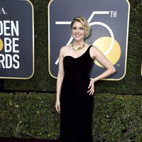 Greta Gerwig at the red carpet of the Golden Globes 2018