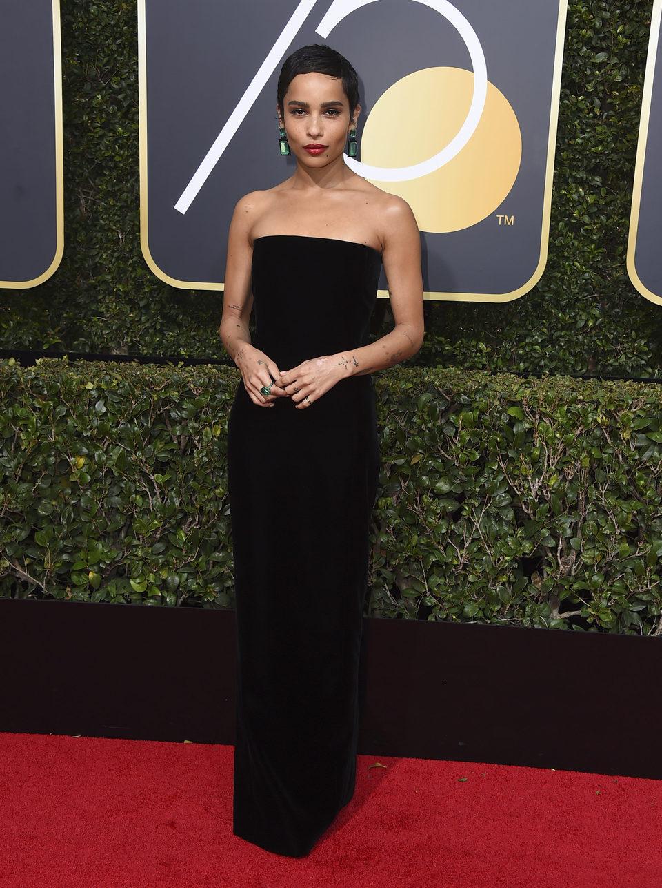 Zoe Kravitz at the Golden Globe's red carpet 2018