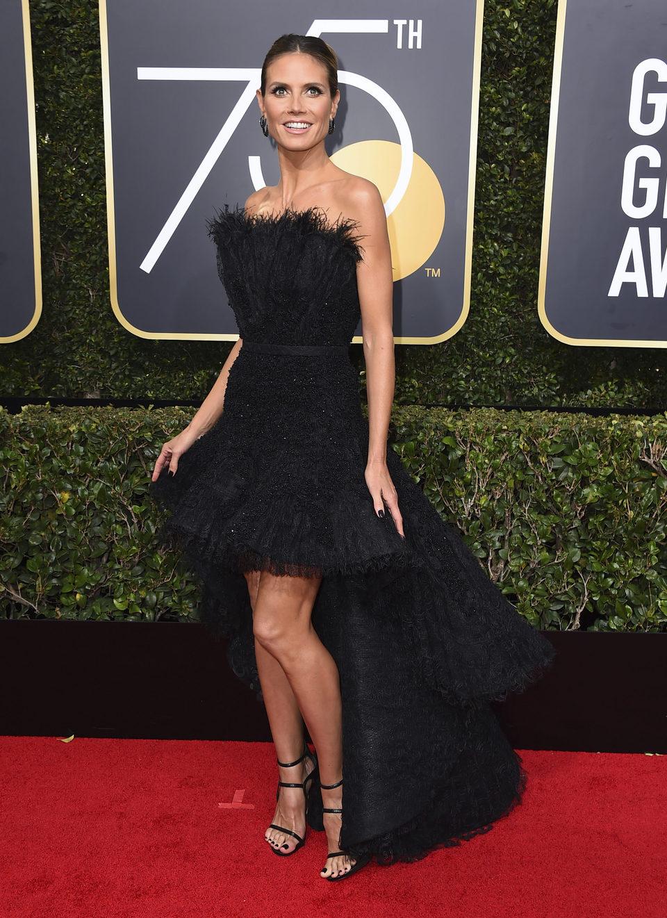 Heidi Klum at the Golden Globe's red carpet 2018