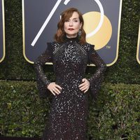 Isabelle Huppert at the Golden Globe's red carpet 2018