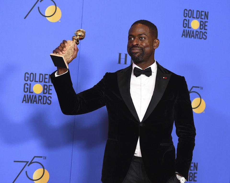 Sterling K  Brown wins Best Actor in a Tv Drama Golden Globe