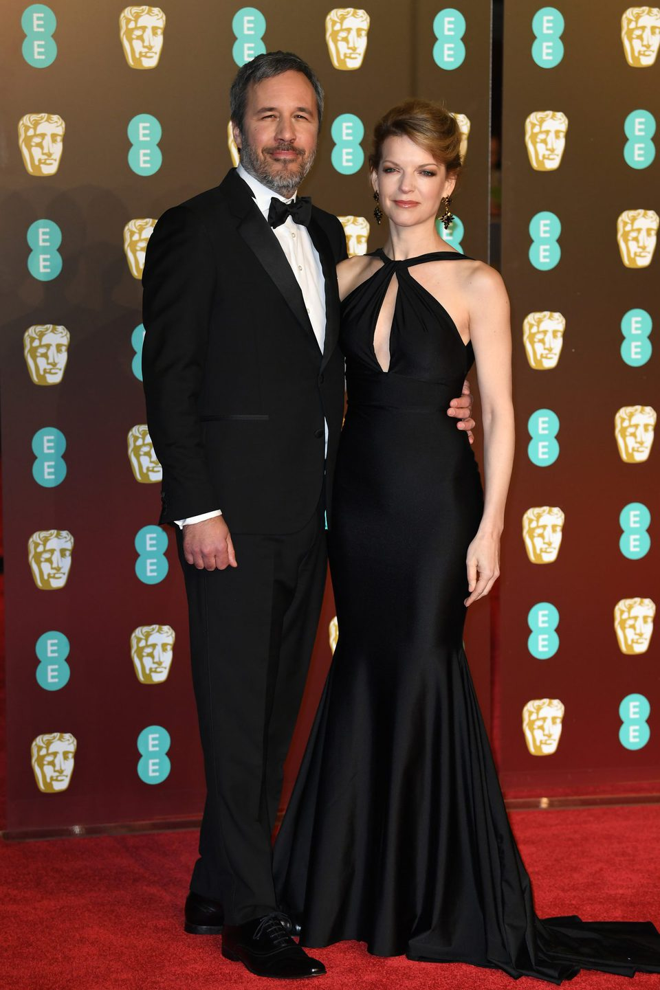 Denis Villeneuve and Tanya Lapointe at the BAFTAs 2018 red carpet