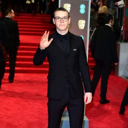 Will Poulter at the BAFTA Awards' 2018 red carpet