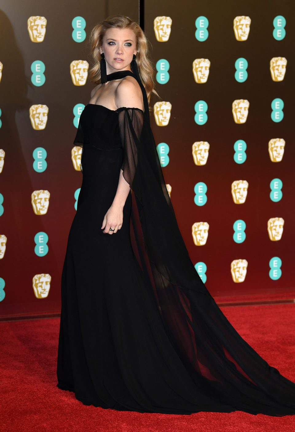 Natalie Dormer at the BAFTAs 2018 red carpet