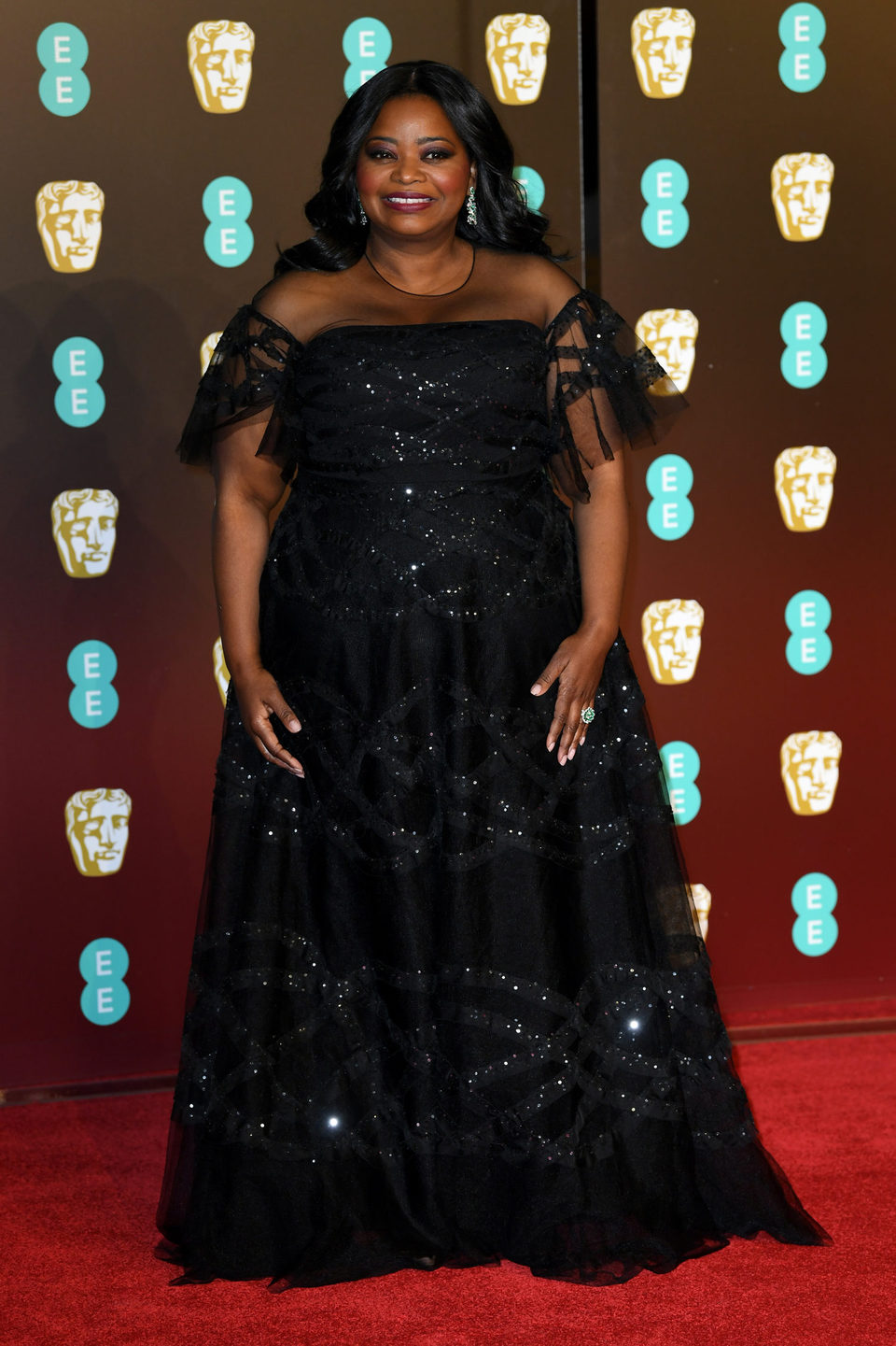 Octavia Spencer at the BAFTA Awards' 2018 red carpet