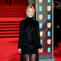 Saoirse Ronan at the BAFTA Awards' 2018 red carpet