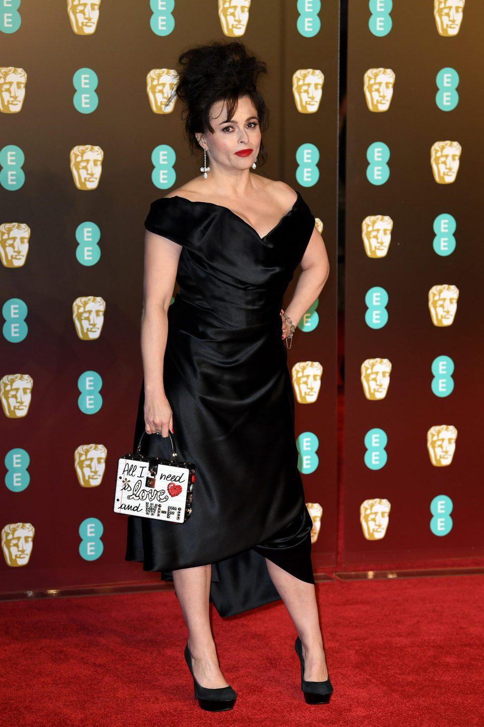 Helena Bonham Carter at the BAFTAs 2018 red carpet