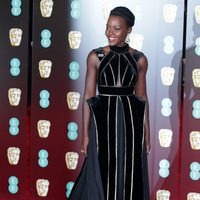 Lupita Nyong'o at the BAFTA Awards' 2018 red carpet