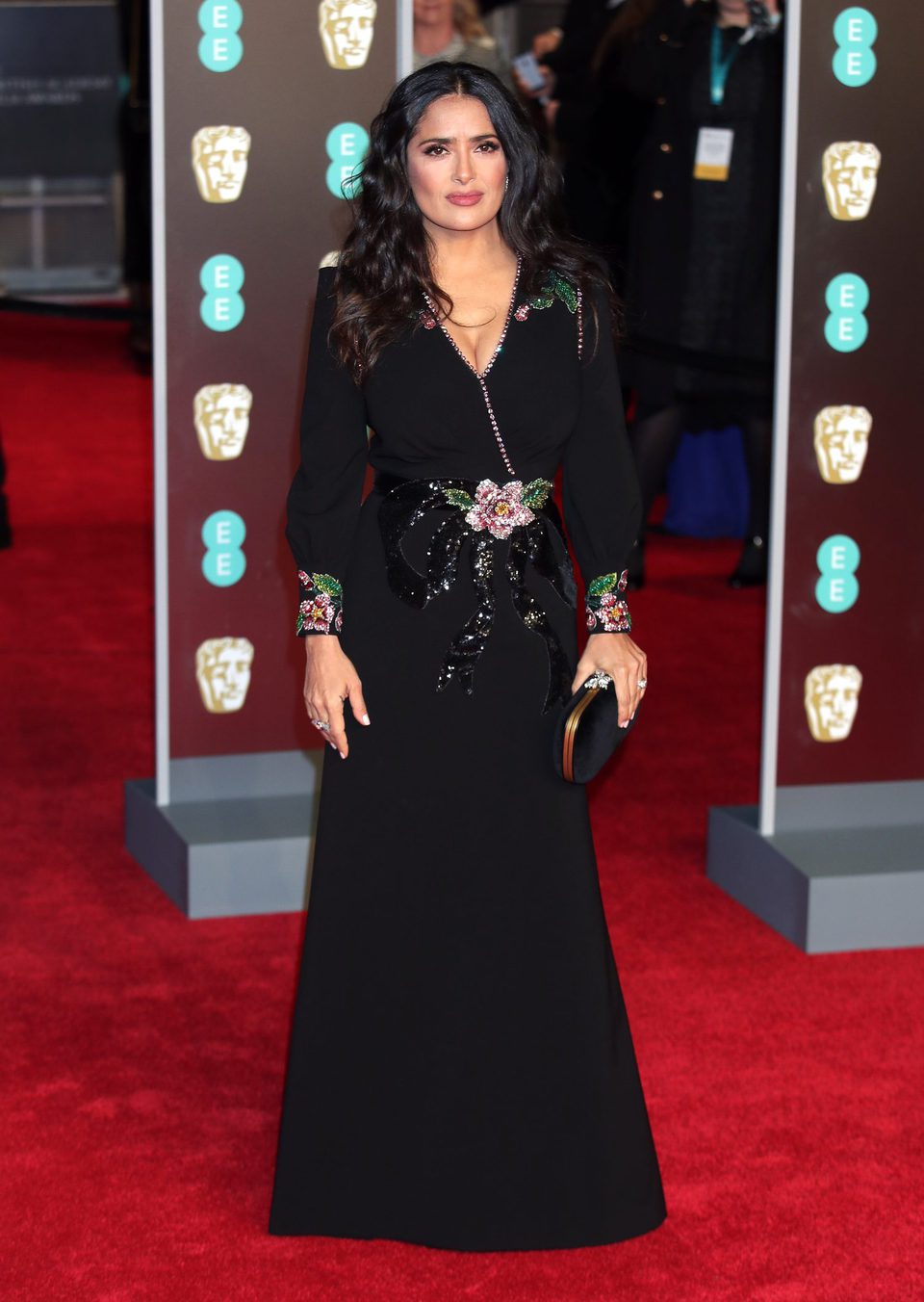 Salma Hayek at the BAFTAs 2018 red carpet, Full Size
