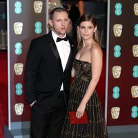 Jamie Bell and Kate Mara at the BAFTA Awards' 2018 red carpet