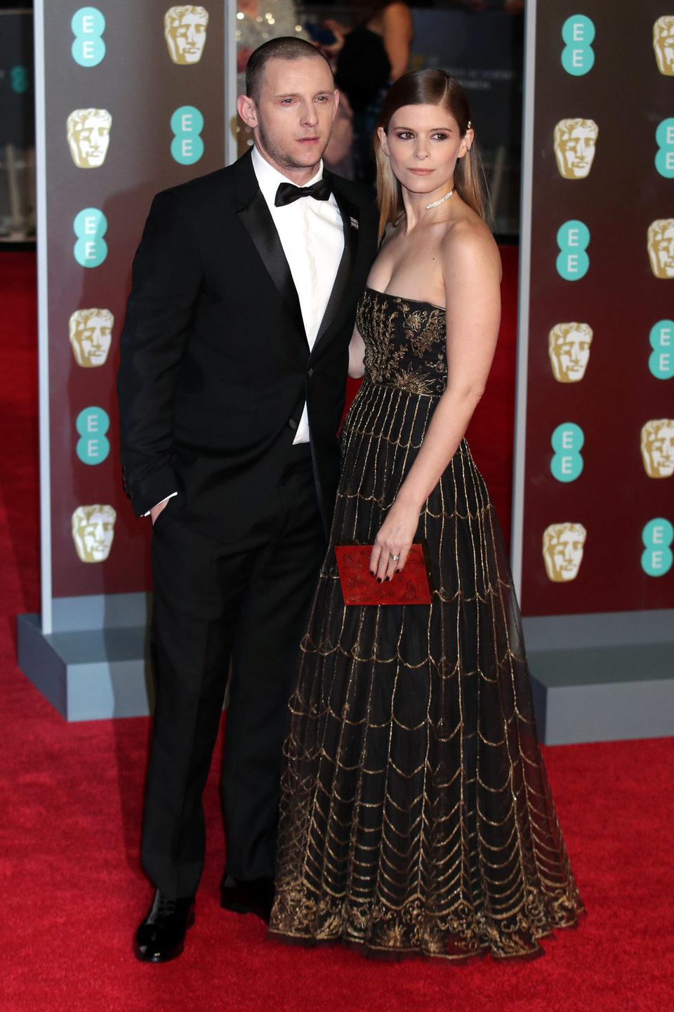 Jamie Bell and Kate Mara at the BAFTA Awards' 2018 red carpet