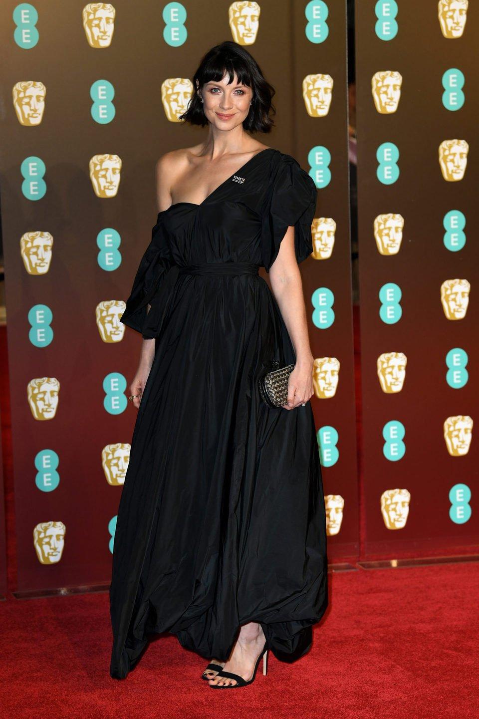 Caitriona Balfe at the BAFTA Awards' 2018 red carpet