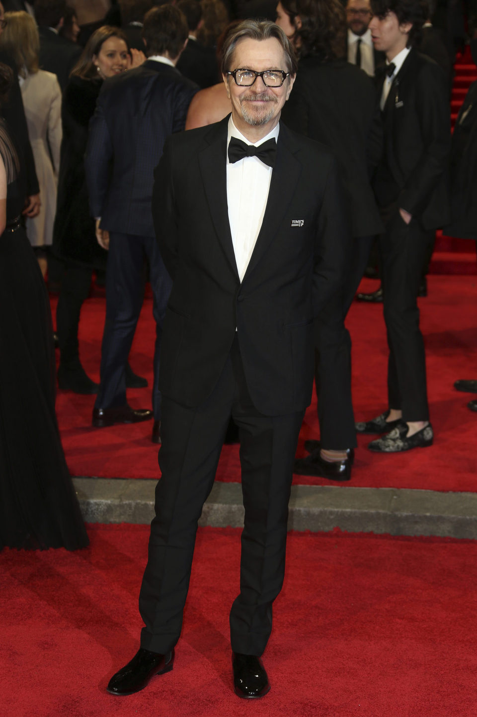 Gary Oldman at the BAFTA Awards' 2018 red carpet
