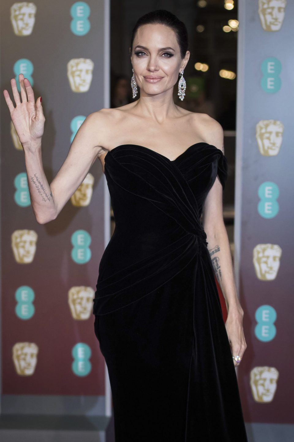 Angelina Jolie at the BAFTA Awards' 2018 red carpet