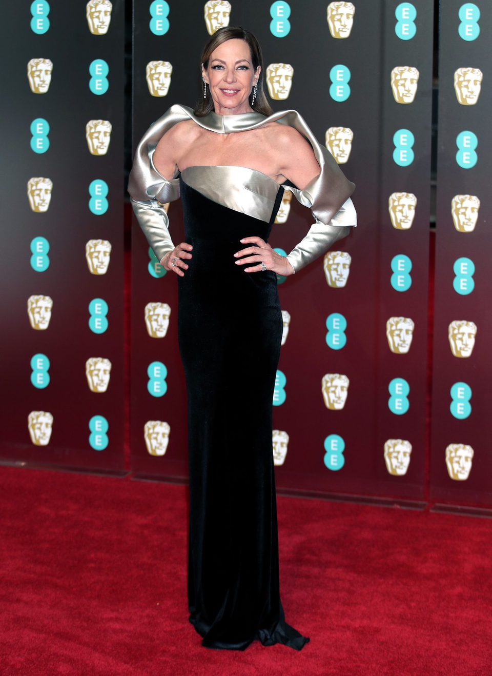 Allison Janney at the BAFTAs 2018 red carpet