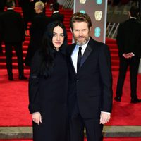Willem Defoe and Giada Colagrande at the BAFTA Awards' 2018 red carpet