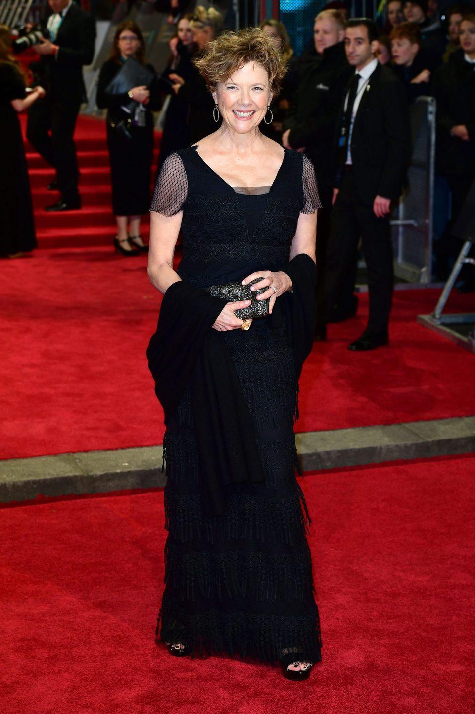 Annette Bening at the BAFTAs 2018 red carpet