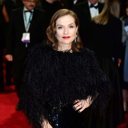 Isabelle Huppert at the BAFTAs 2018 red carpet