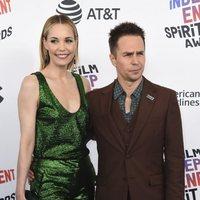 Leslie Bibb and Sam Rockwell at the Spirit Awards 2018