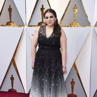 Beanie Feldstein at Oscars 2018 the red carpet