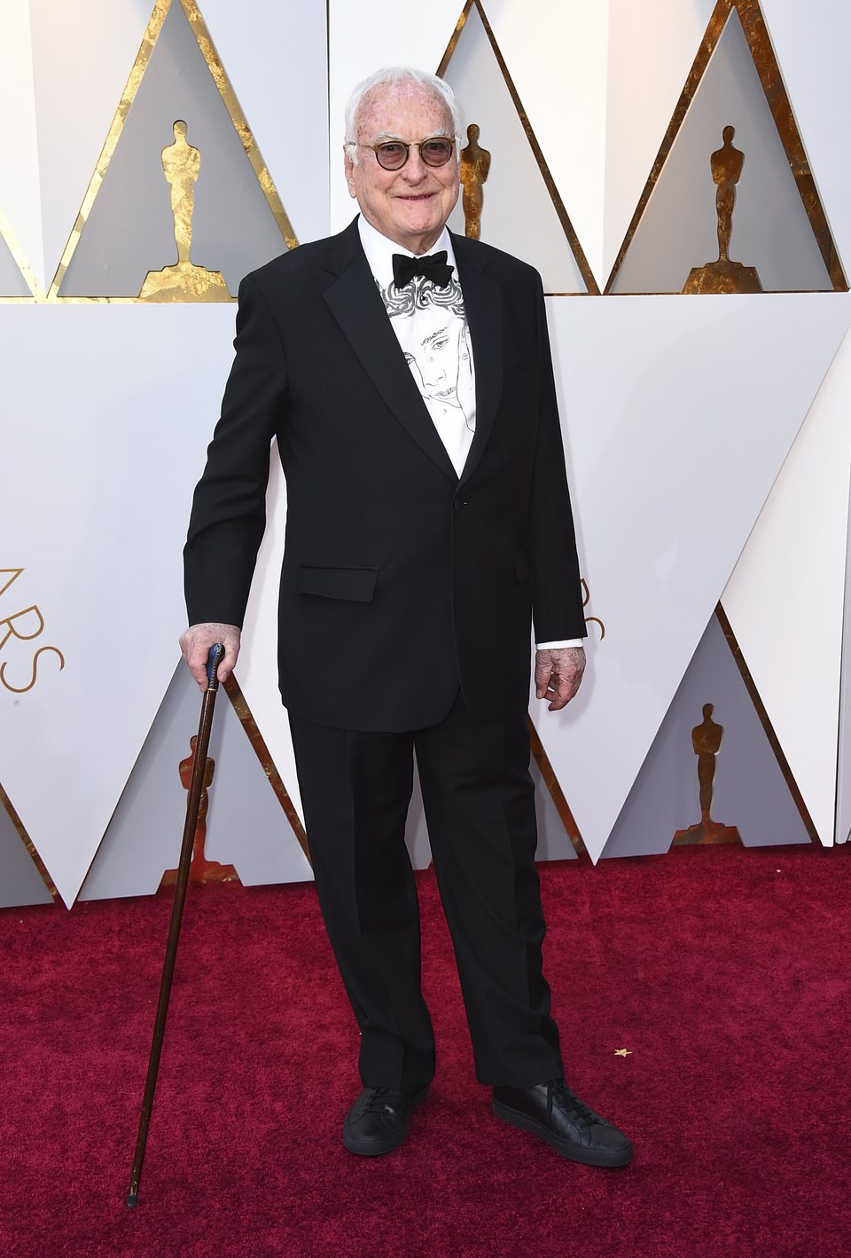 James Ivory at the Oscars 2018 red carpet