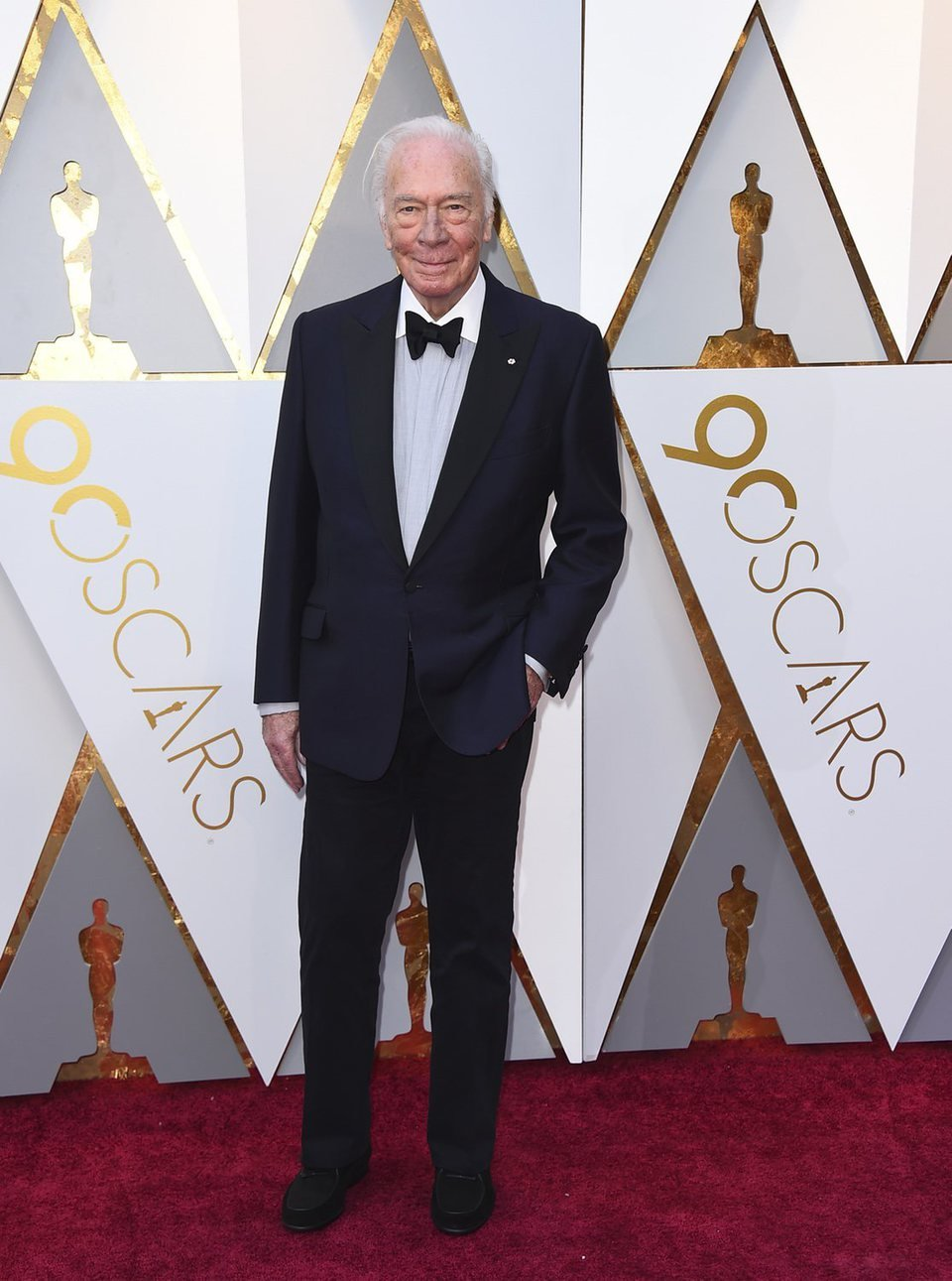Christopher Plummer at the red carpet of the Oscars 2018