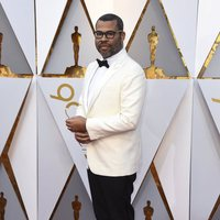 Jordan Peele at the Oscars 2018 red carpet