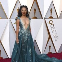 Betty Gabriel at the Oscars 2018 red carpet