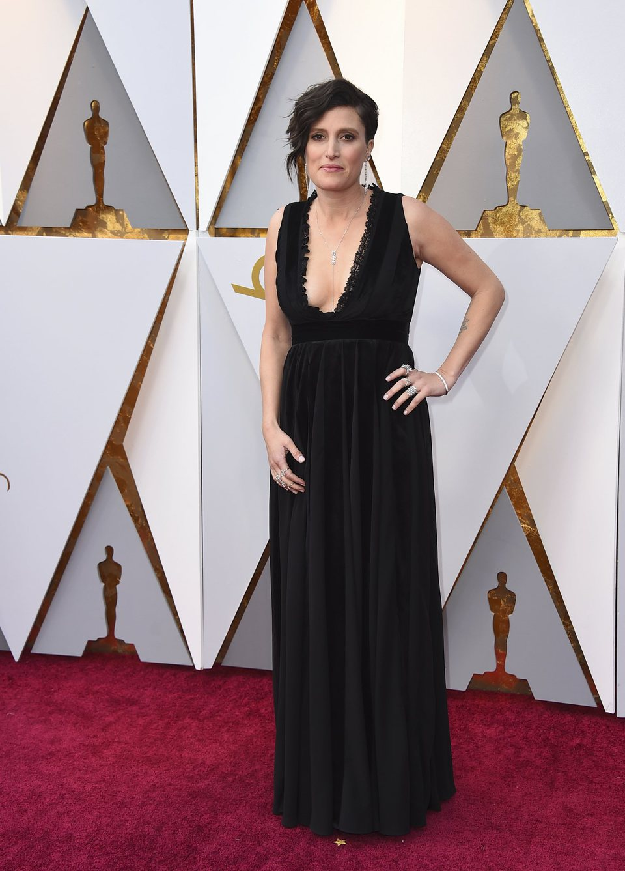 Rachel Morrison at the Oscars 2018 red carpet
