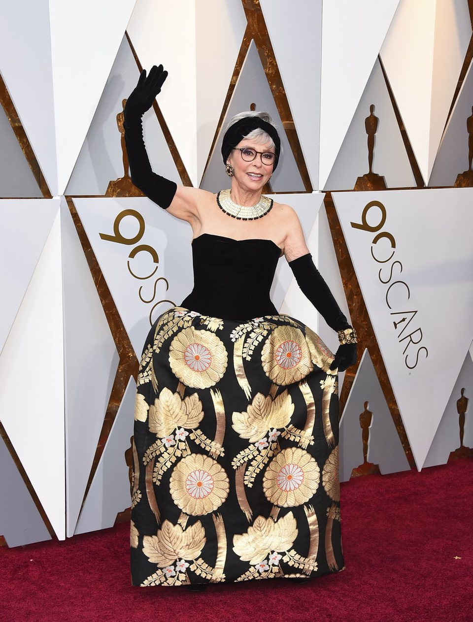 Rita Moreno at the red carpet of the Oscars 2018