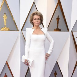Jane Fonda at the Oscar 2018 red carpet