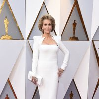Jane Fonda at the Oscar 2018 red carpet