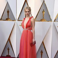 Samara Weaving at the red carpet of the Oscars 2018