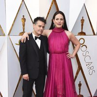 Sebastián Lelio and Daniela Vega at the red carpet of the Oscars
