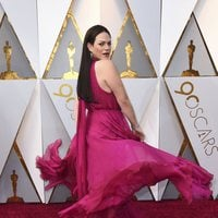 Daniela Vega at the Oscars 2018 red carpet