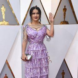 Salma Hayek at the Oscars 2018 red carpet