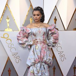 Andra Day at the Oscar 2018 red carpet