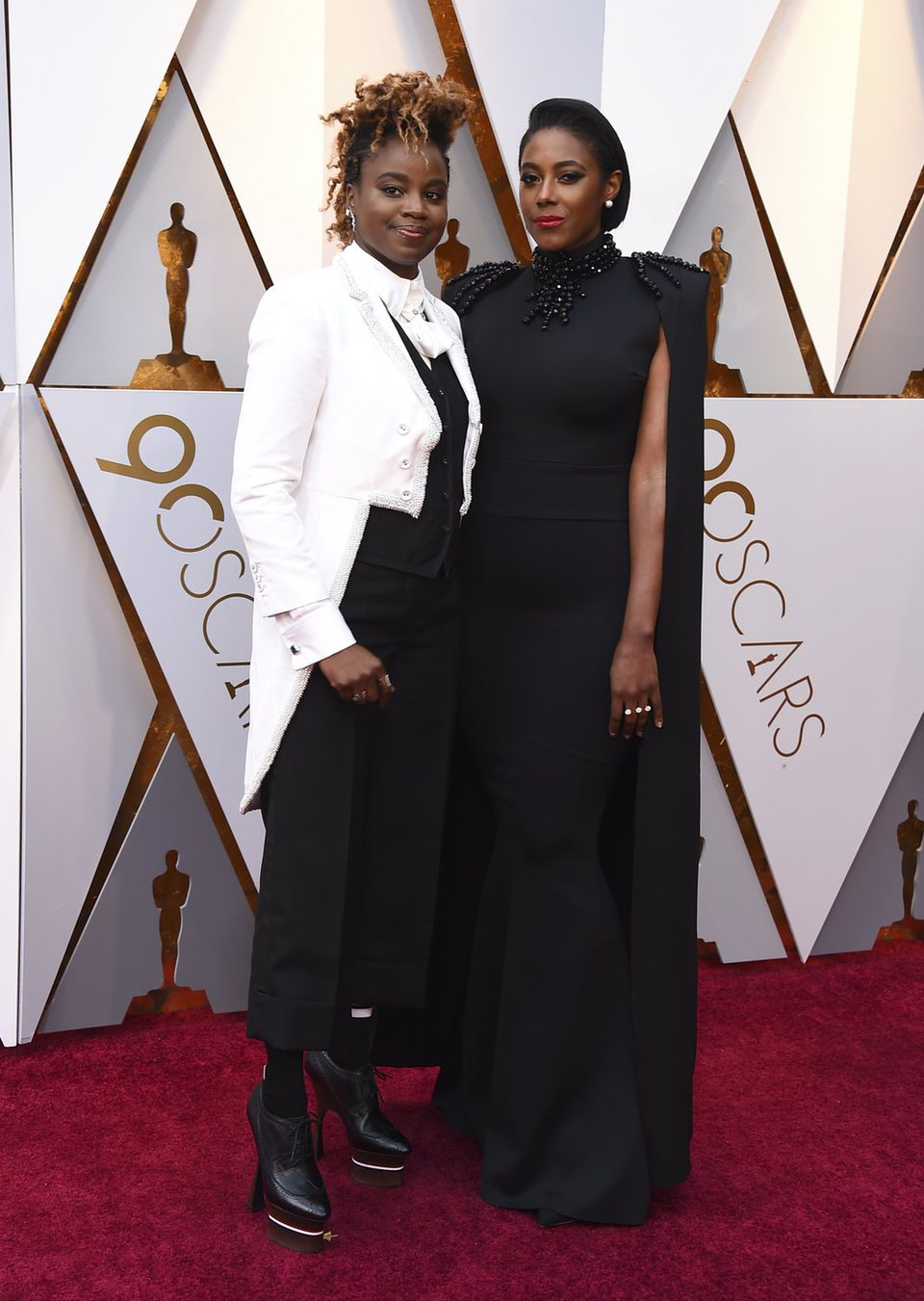Dee Rees and Sarah M. Broom at the red carpet of the Oscars