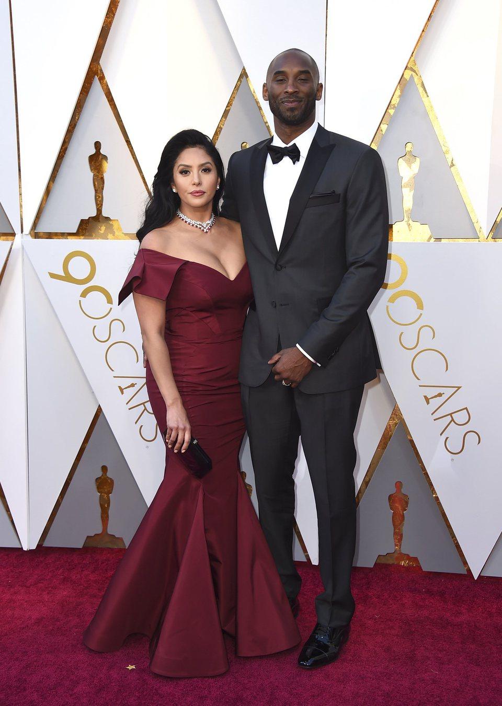 Kobe Bryant y Vanessa Laine Bryant at the Oscars 2018 red carpet