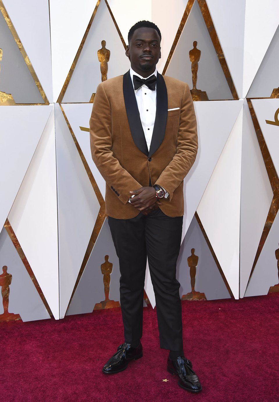 Daniel Kaluuya at the Oscars 2018 red carpet