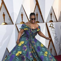 Whoopi Goldberg at the red carpet of the Oscars 2018