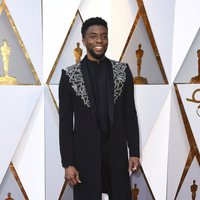 Chadwick Boseman at the red carpet of the Oscars
