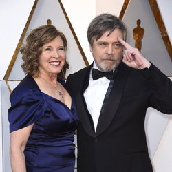 Mark Hamill and Marilou York at the Oscar 2018 red carpet