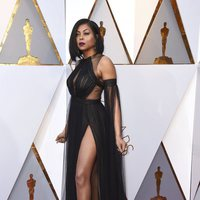 Taraji P. Henson at the Oscars 2018 red carpet