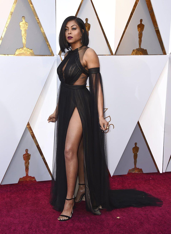 Taraji P. Henson at the Oscars 2018 red carpet
