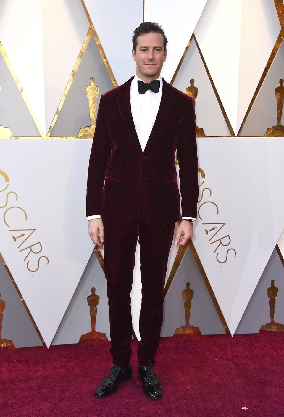 Armie Hammer at the red carpet of the Oscars
