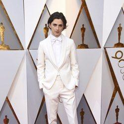 Timothée Chalamet at the Oscar 2018 red carpet
