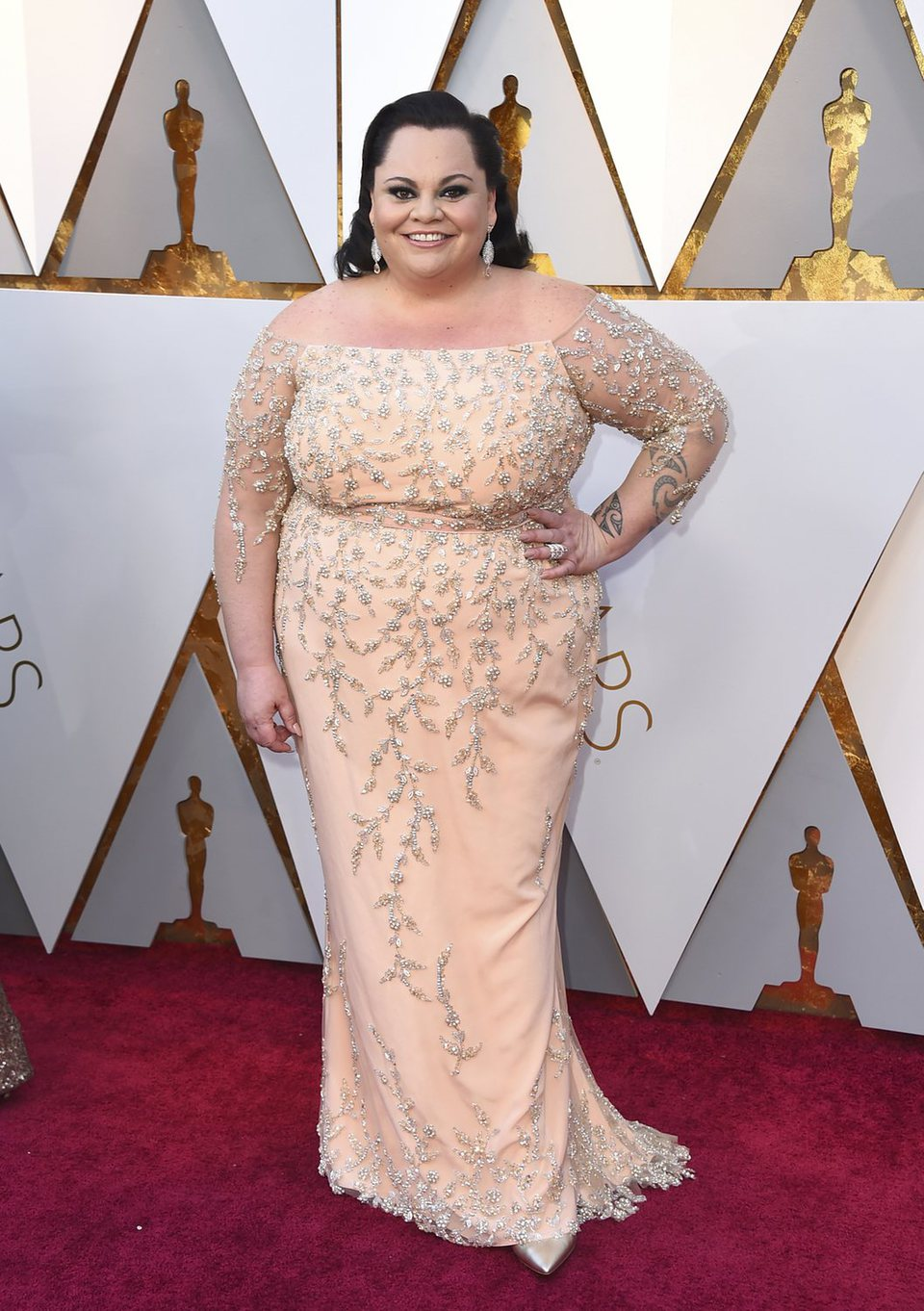 Keala Settle at the red carpet of the Oscars
