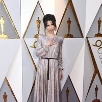 Sally Hawkings at the red carpet of the Oscars